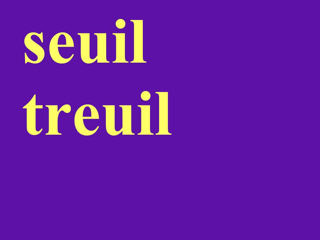 seuil treuil