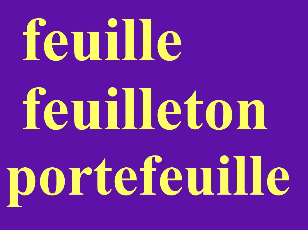 feuille feuilleton portefeuille