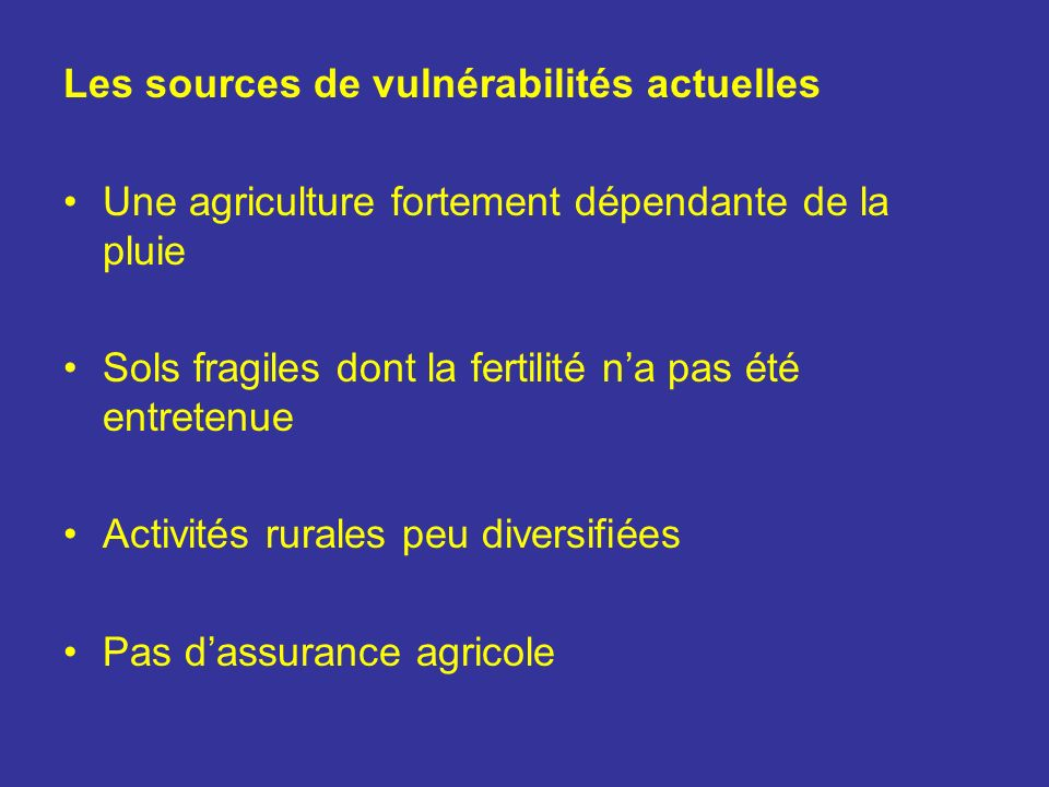 Les sources de vulnérabilités actuelles