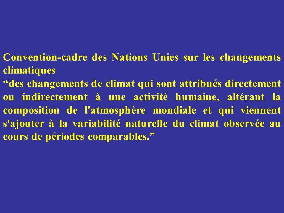 Convention-cadre des Nations Unies sur les changements climatiques