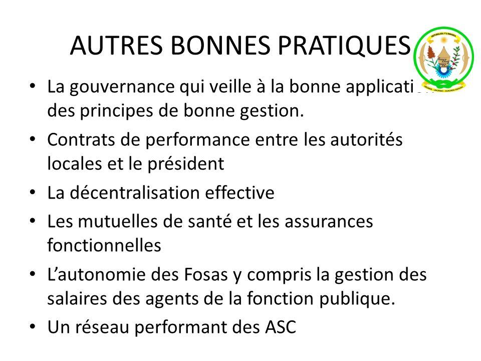 AUTRES BONNES PRATIQUES