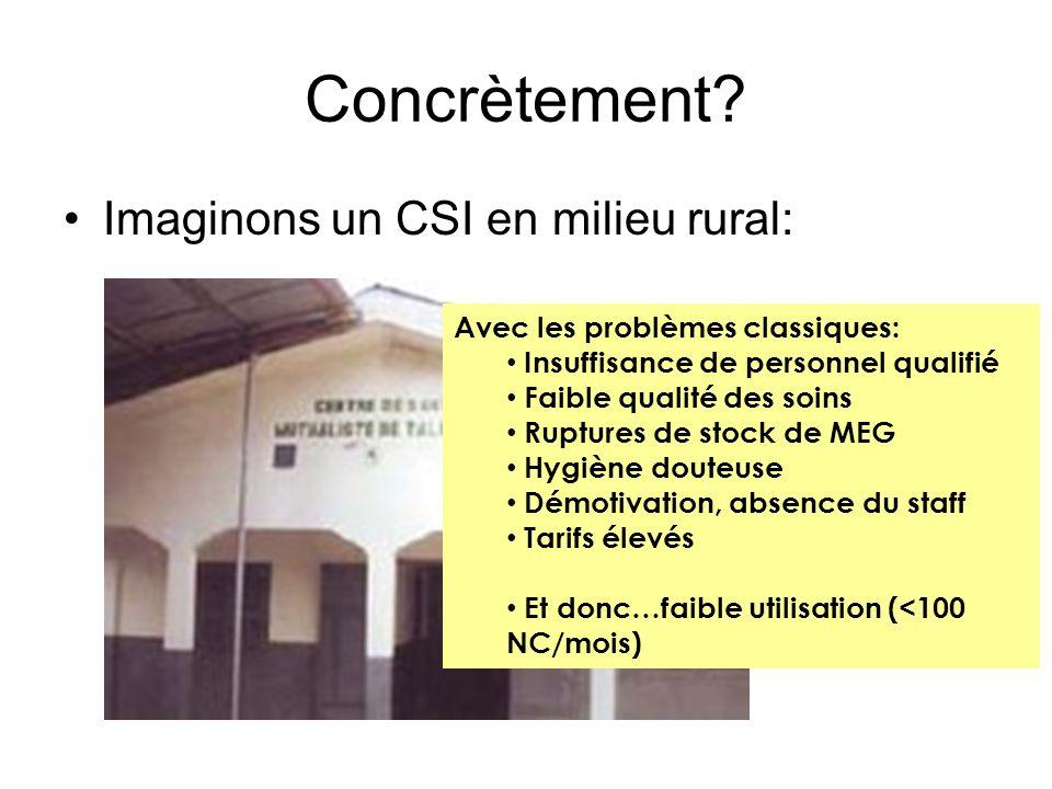 Concrètement Imaginons un CSI en milieu rural: