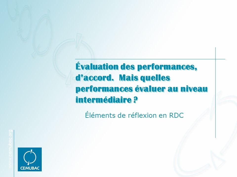 Éléments de réflexion en RDC