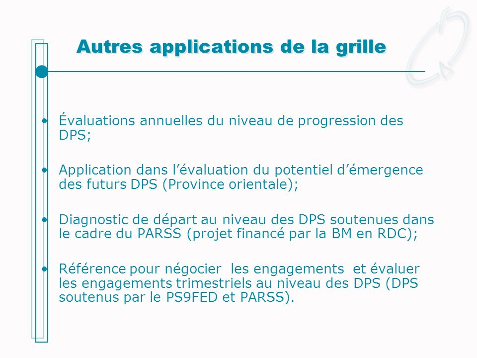 Autres applications de la grille