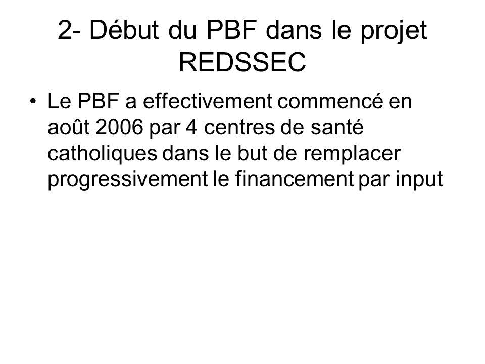 2- Début du PBF dans le projet REDSSEC