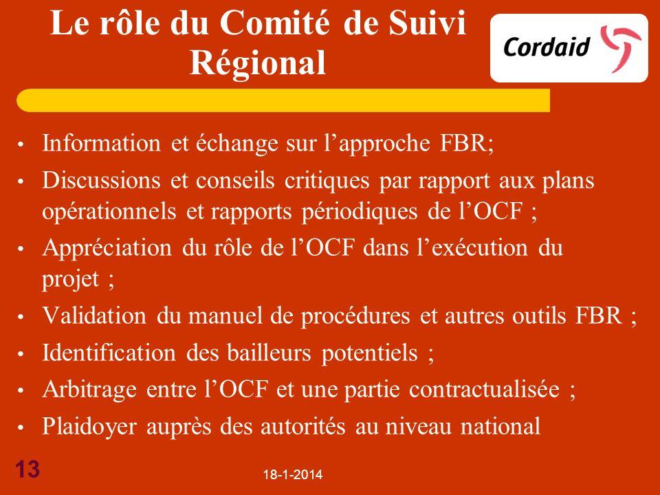 Le rôle du Comité de Suivi Régional