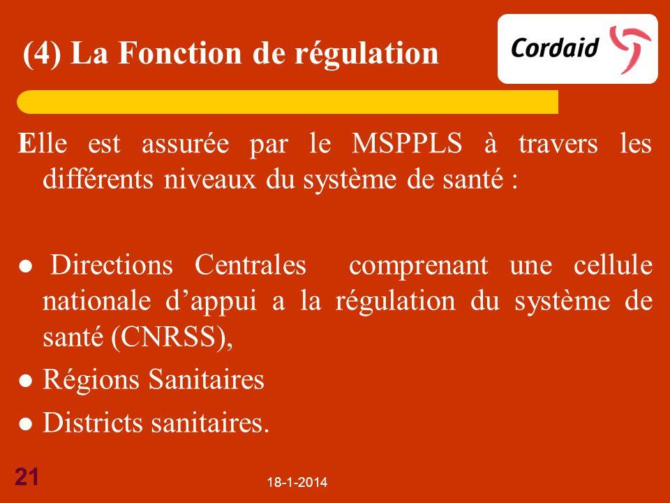 (4) La Fonction de régulation