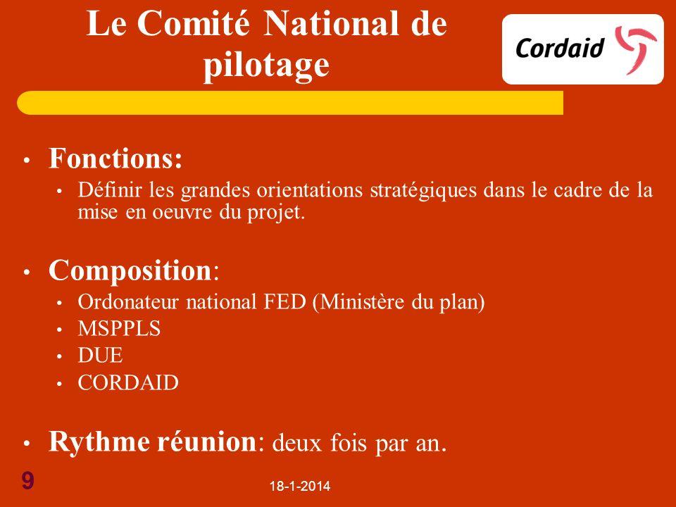 Le Comité National de pilotage