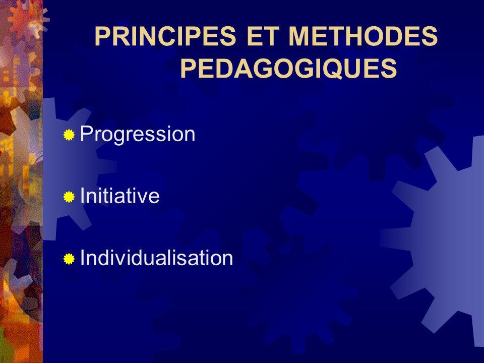 PRINCIPES ET METHODES PEDAGOGIQUES
