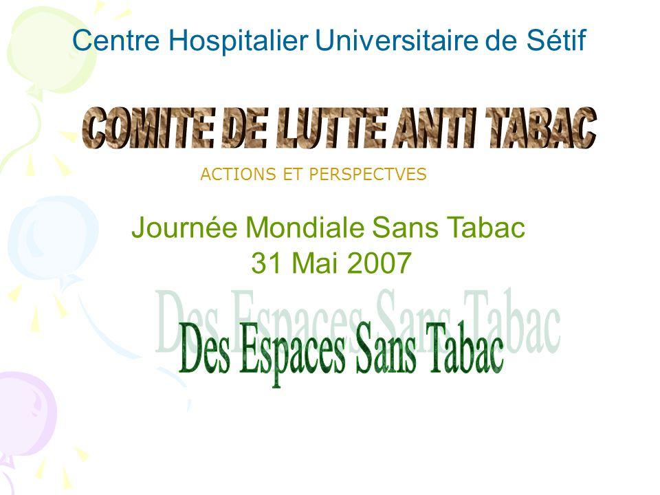 Des Espaces Sans Tabac Centre Hospitalier Universitaire de Sétif