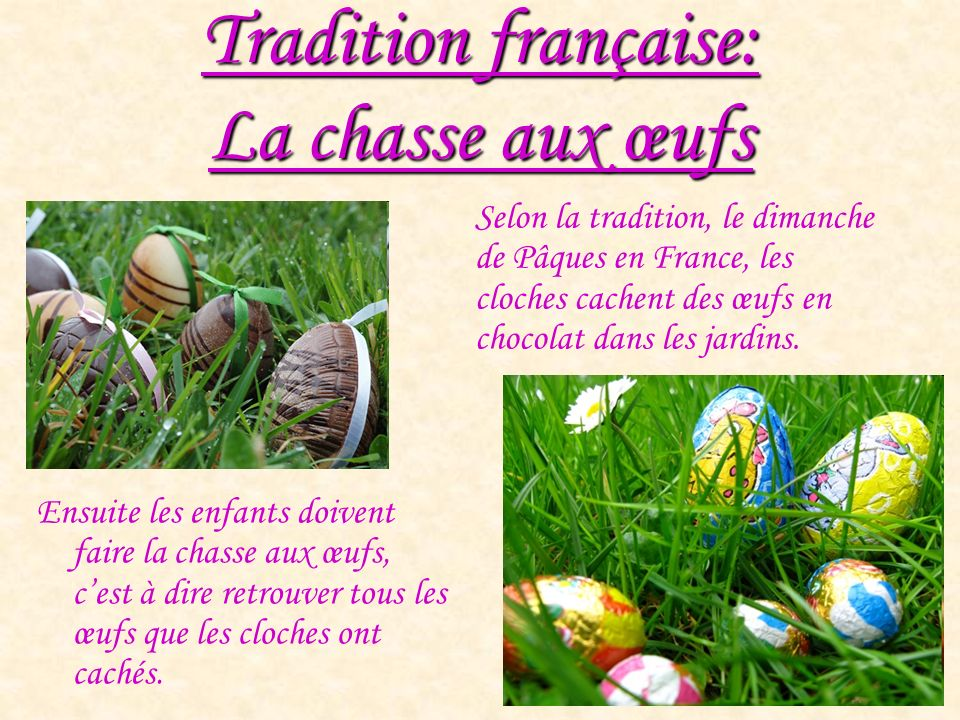 Tradition française: La chasse aux œufs