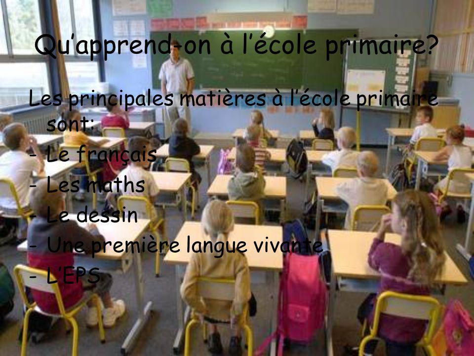 Qu'apprend-on à l'école primaire