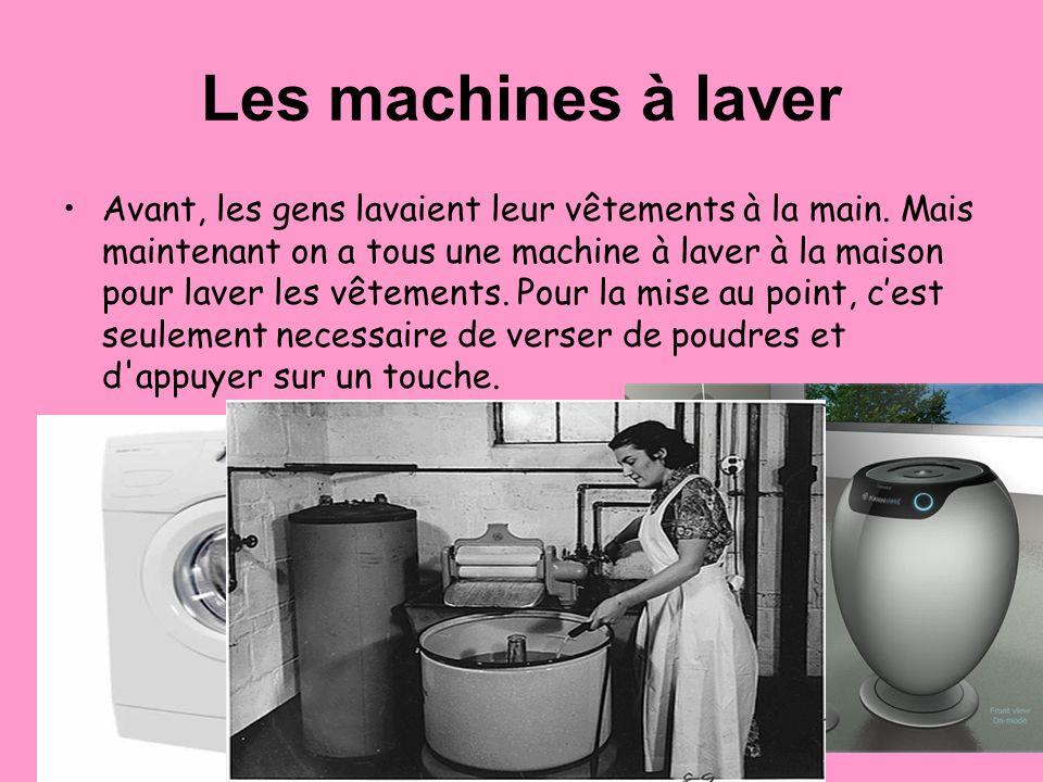 Les machines à laver