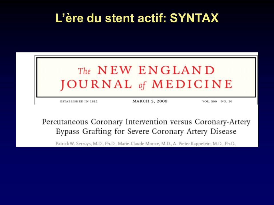 L'ère du stent actif: SYNTAX
