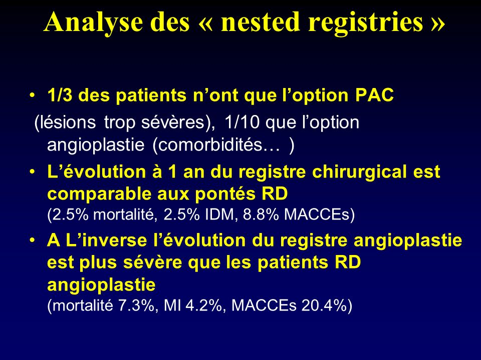 Analyse des « nested registries »