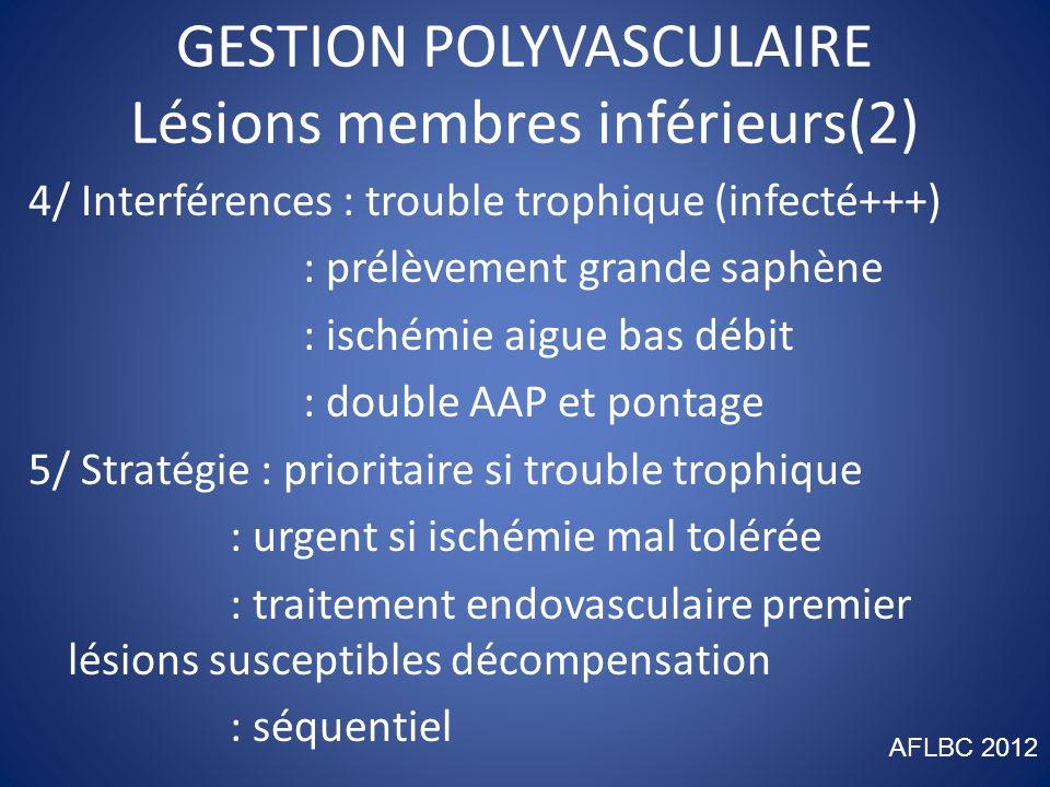 GESTION POLYVASCULAIRE Lésions membres inférieurs(2)