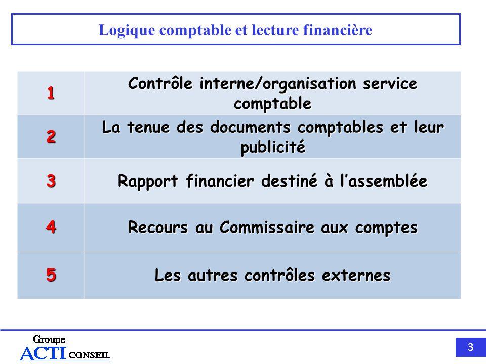 Logique comptable et lecture financière