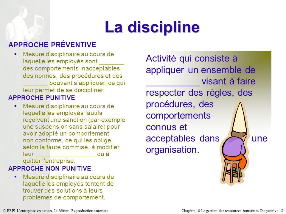 La discipline APPROCHE PRÉVENTIVE.