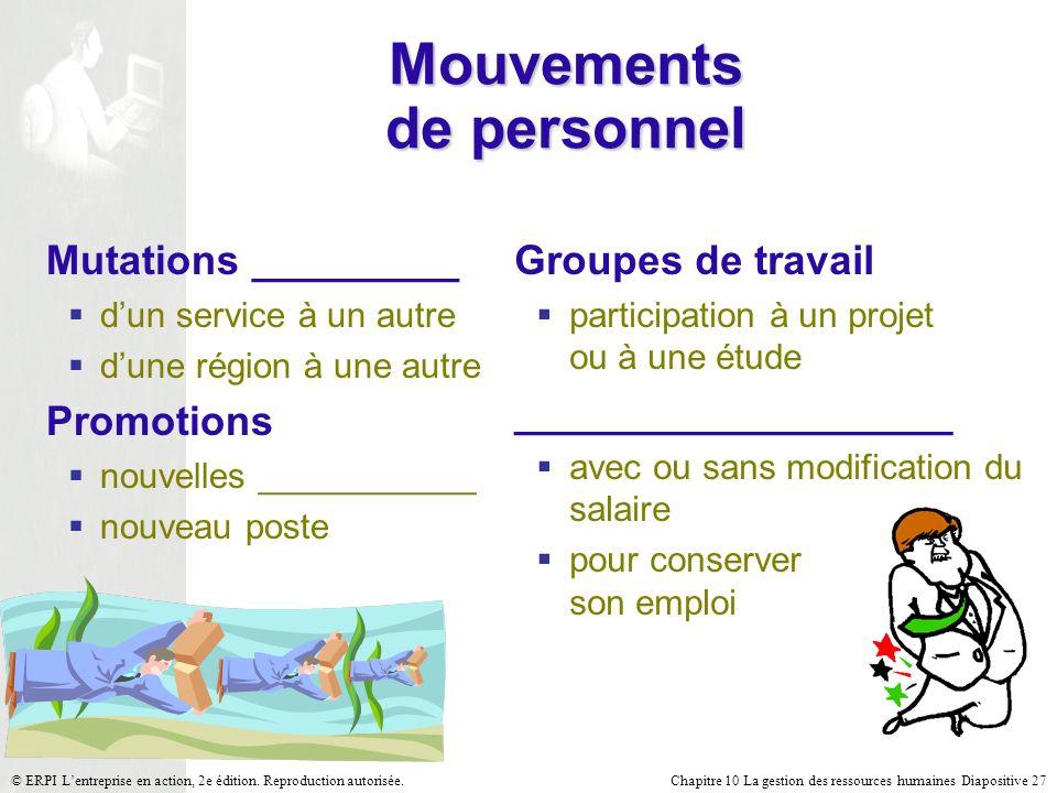 Mouvements de personnel