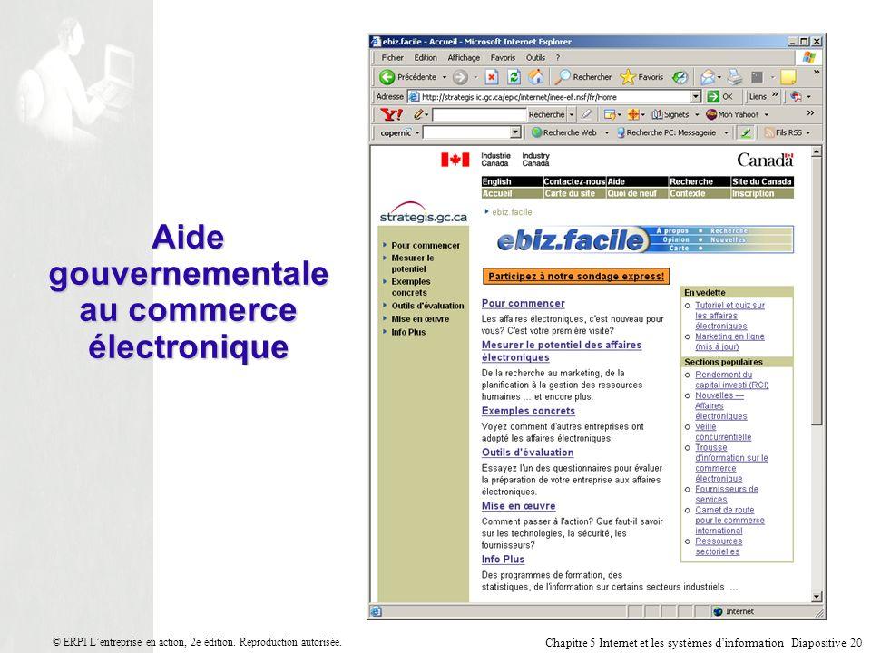 Aide gouvernementale au commerce électronique