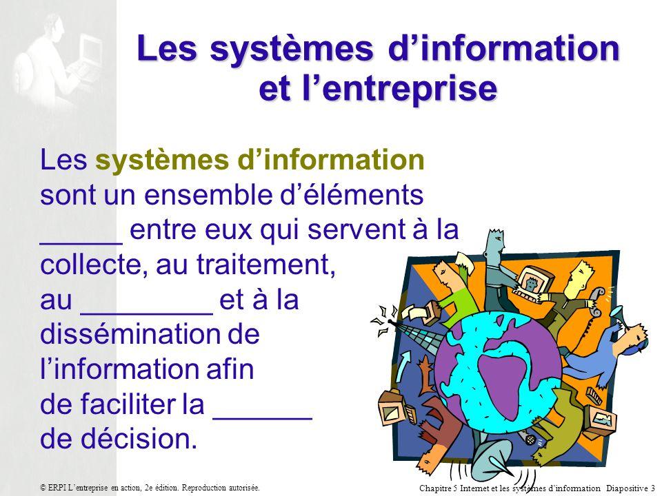 Les systèmes d'information et l'entreprise