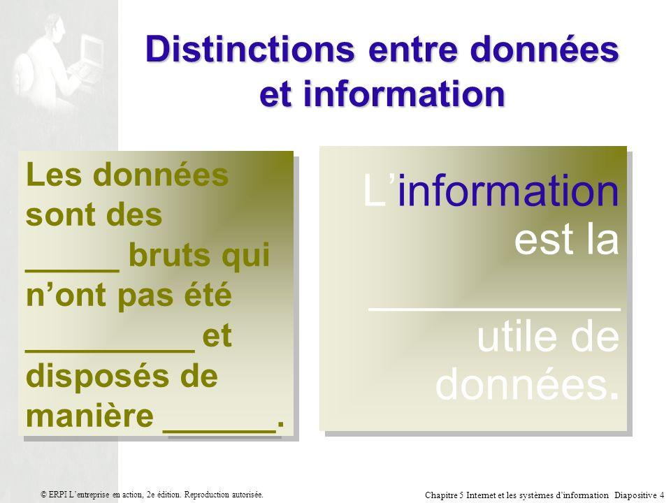 Distinctions entre données et information