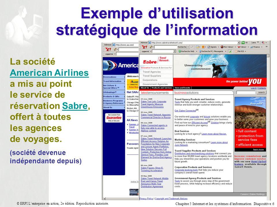 Exemple d'utilisation stratégique de l'information