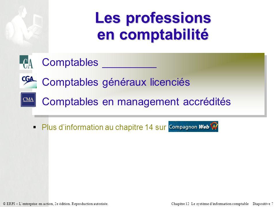 Les professions en comptabilité