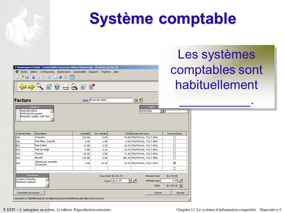 Les systèmes comptables sont habituellement __________.