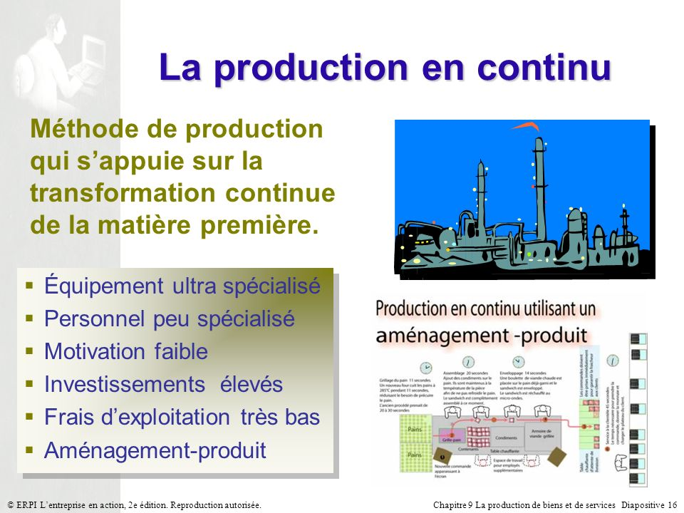 La production en continu
