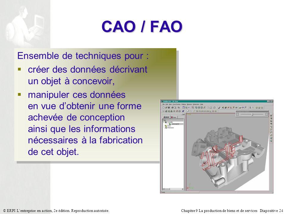 CAO / FAO Ensemble de techniques pour :