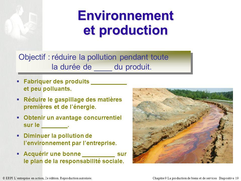 Environnement et production