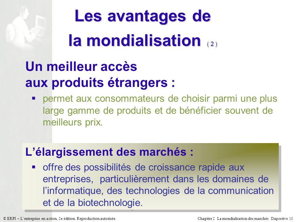 Les avantages de la mondialisation ( 2 )