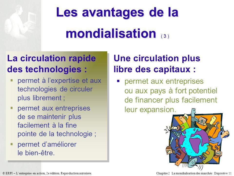 Les avantages de la mondialisation ( 3 )