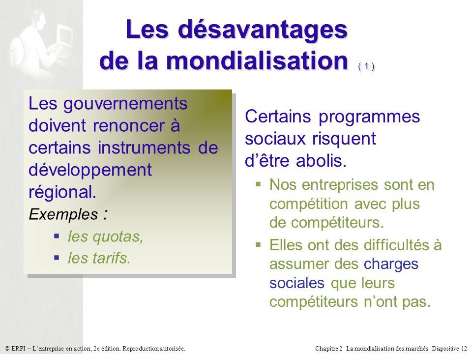 Les désavantages de la mondialisation ( 1 )