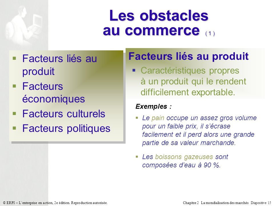 Les obstacles au commerce ( 1 )