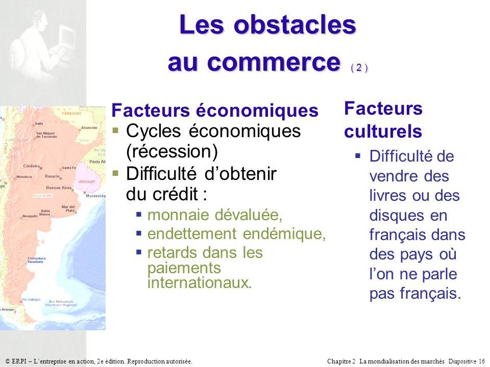 Les obstacles au commerce ( 2 )