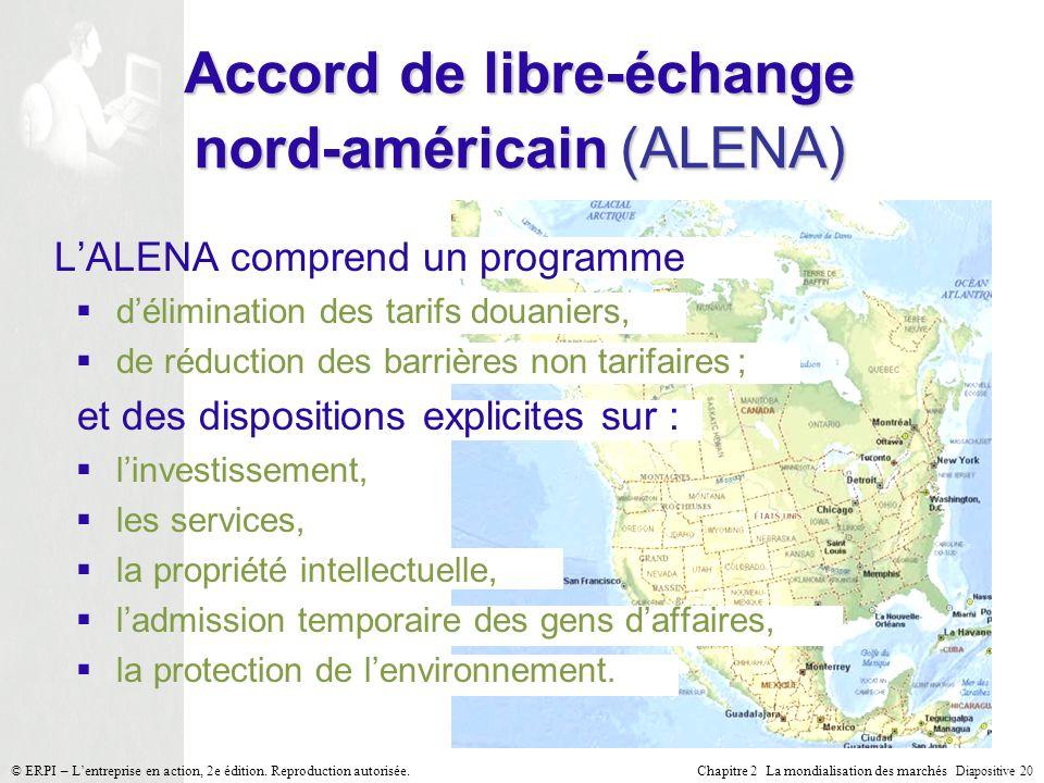 Accord de libre-échange nord-américain (ALENA)
