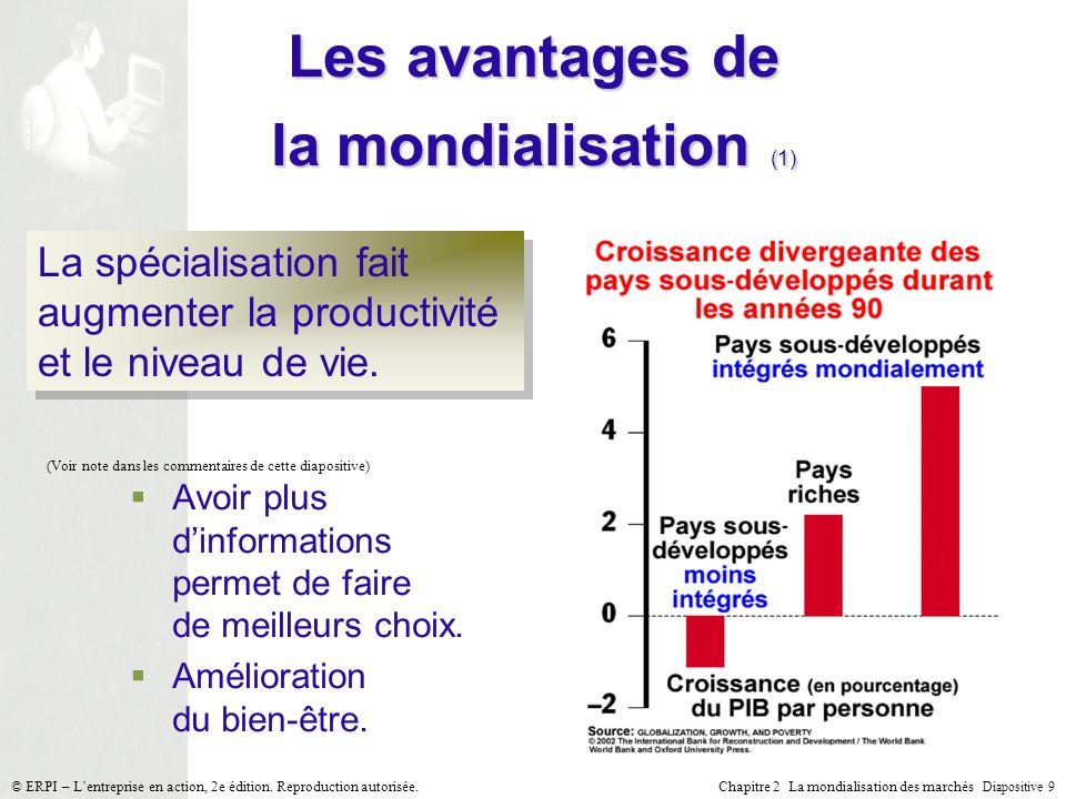 Les avantages de la mondialisation (1)