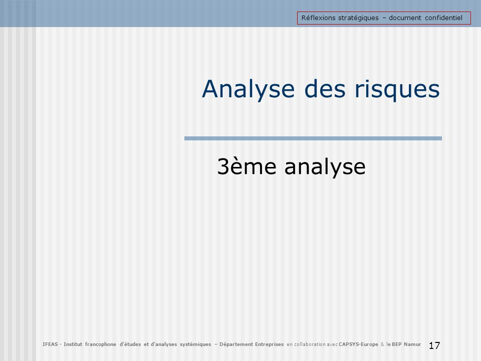 Analyse des risques 3ème analyse