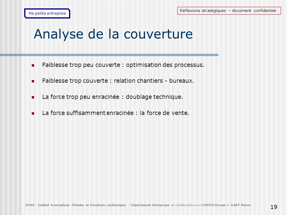 Analyse de la couverture