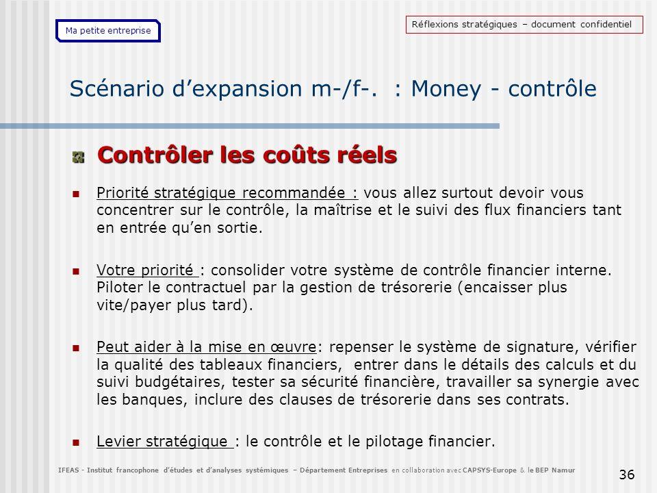 Scénario d'expansion m-/f-. : Money - contrôle