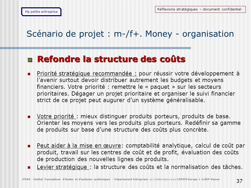 Scénario de projet : m-/f+. Money - organisation