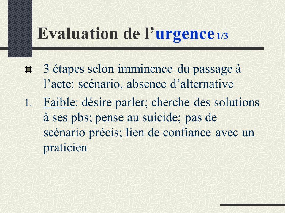 Evaluation de l'urgence 1/3
