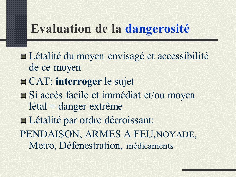 Evaluation de la dangerosité