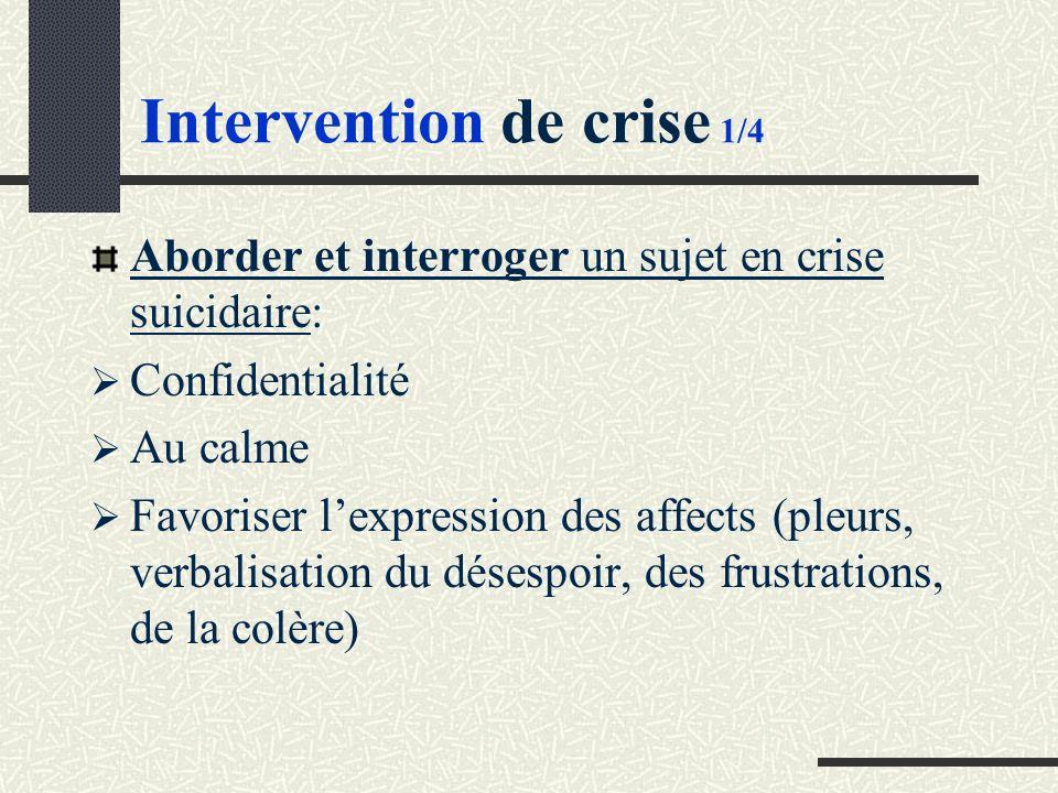 Intervention de crise 1/4