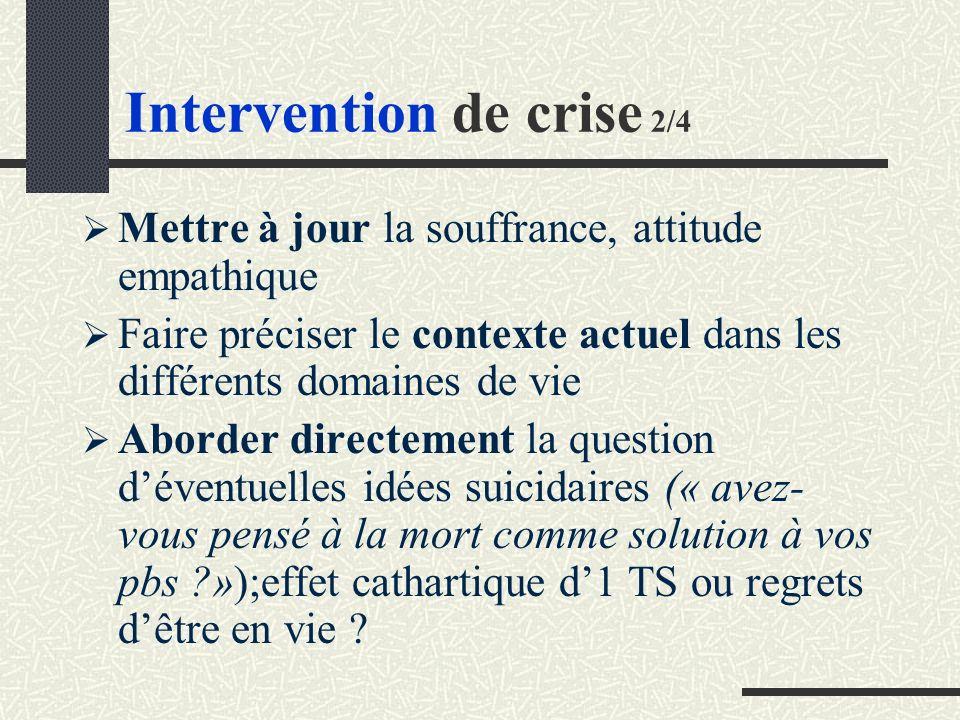 Intervention de crise 2/4