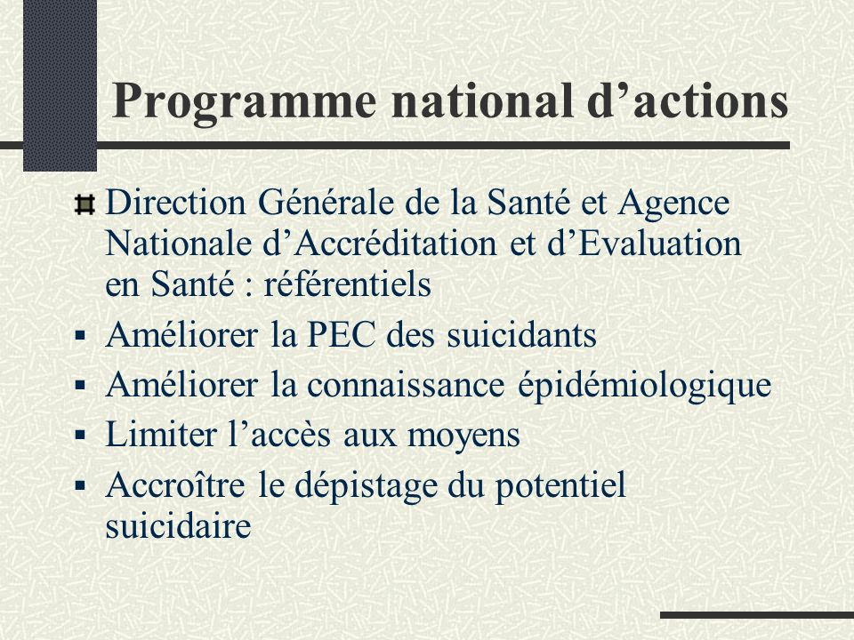 Programme national d'actions