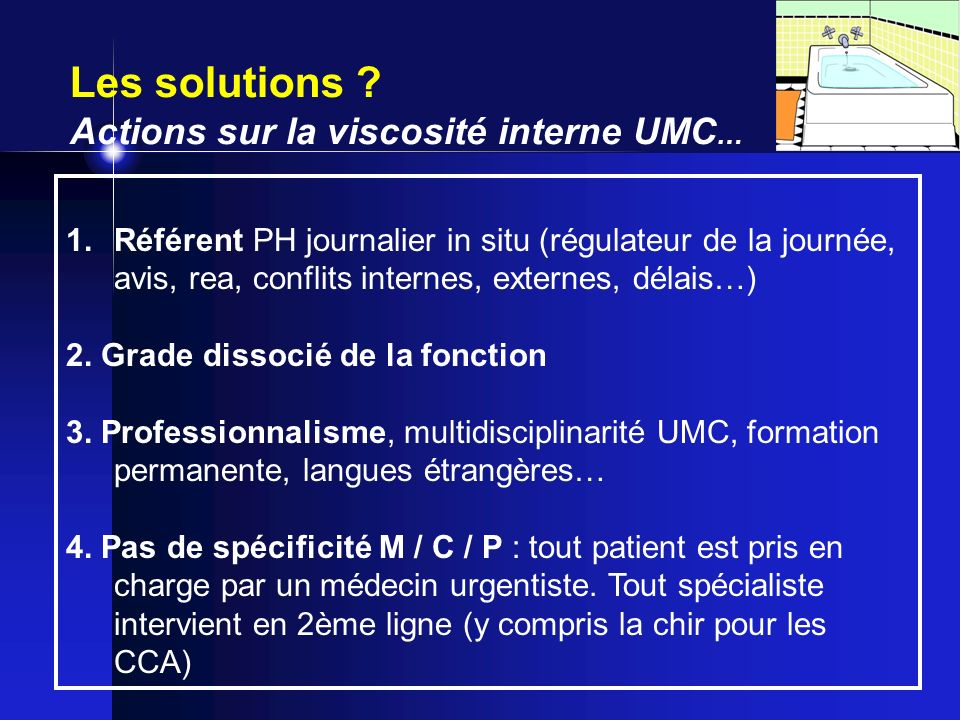 Les solutions Actions sur la viscosité interne UMC…