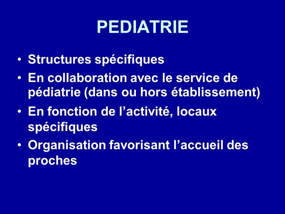 PEDIATRIE Structures spécifiques